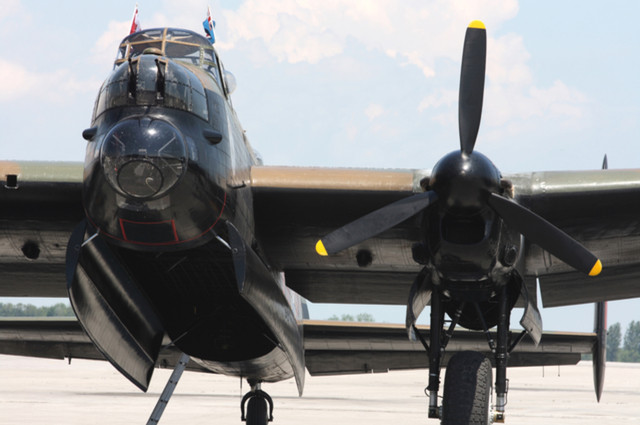 AVRO Lancaster Bomber by Alexandar Lotzov (via Shutterstock).