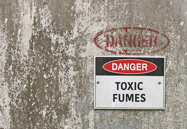 Toxic Dichloromethane Blog Post sign