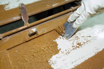 wood paint stripping
