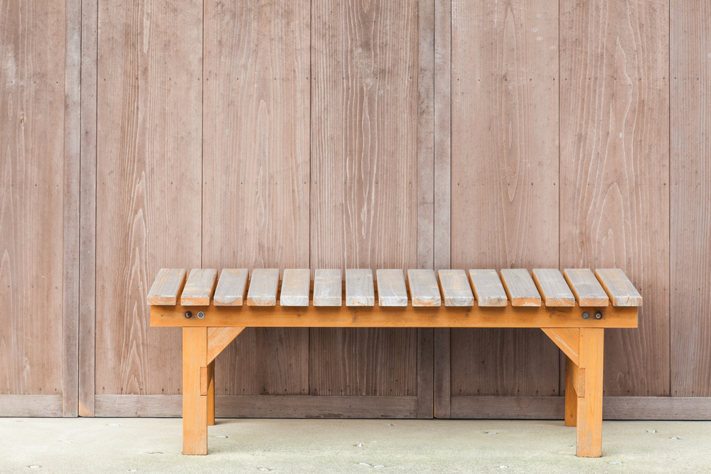 Wooden Bench Paint Stripping