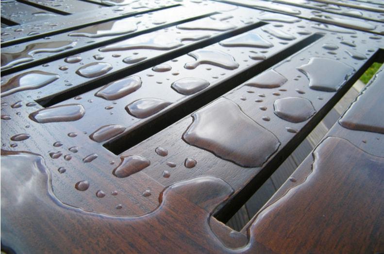 Wet wooden furniture
