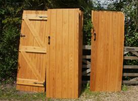 stripped garden gate doors