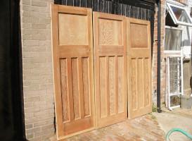 3 internal doors paint stripped