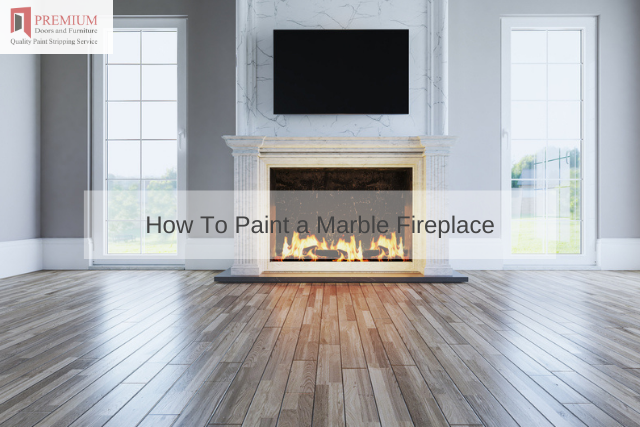 How To Paint a Marble Fireplace